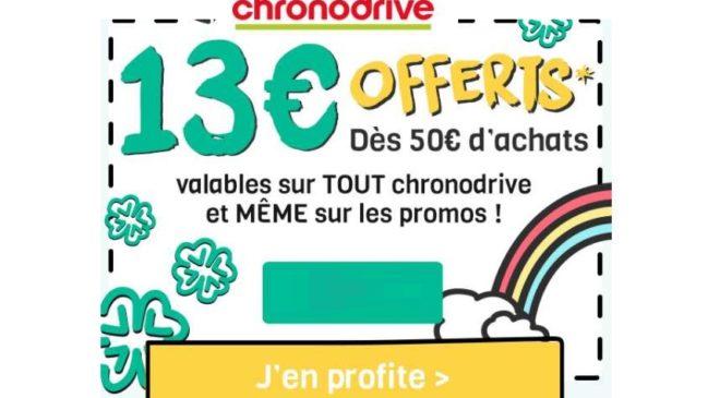 13€ de remise dès 50€ sur Chronodrive