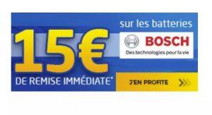 15€ de remise immédiate sur les batteries Bosch