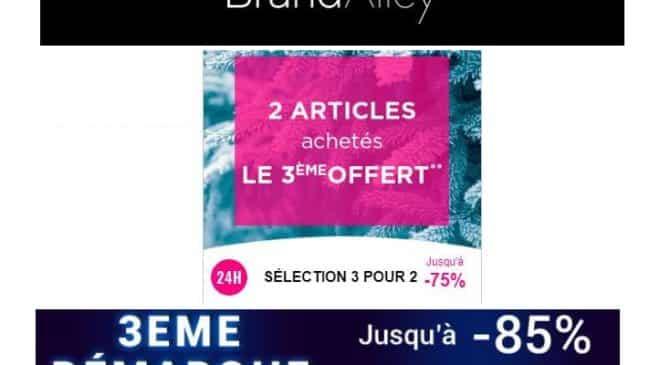 2 articles en soldes achetés sur Brandalley le troisième offert