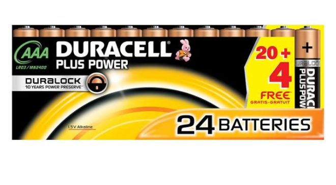 24 piles Duracell Plus Power AAA pas cheres