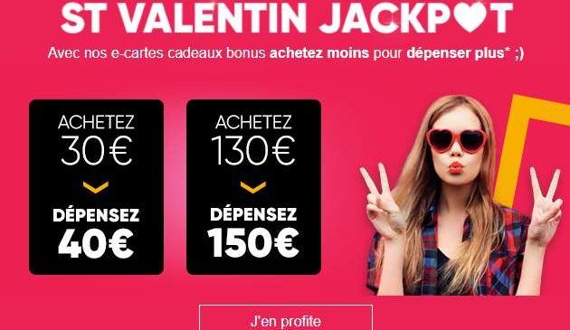 30€ la carte cadeau FNAC de 40€
