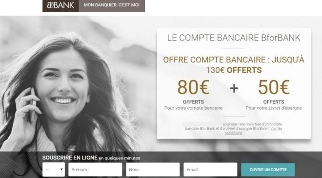 80€ offerts pour l'ouverture d'un compte BforBank + 50€ livret épargne