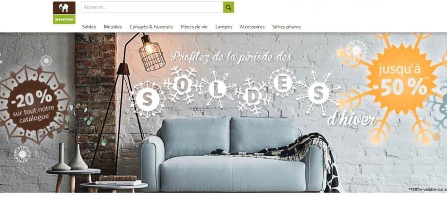bon plan meubles massifs soldes et 20 le reste sur massivum. Black Bedroom Furniture Sets. Home Design Ideas