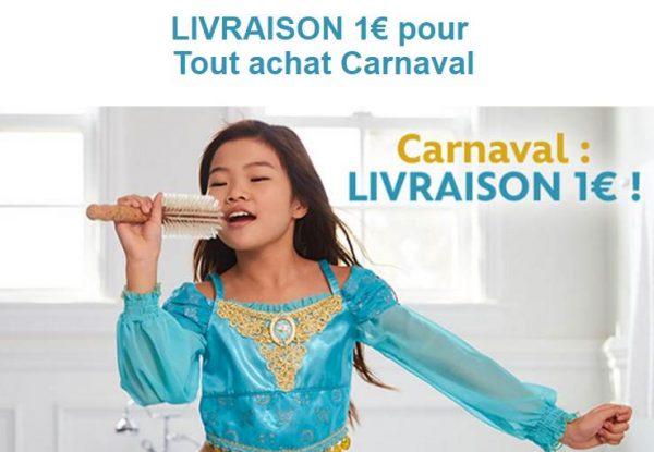Carnaval Disney Store 1€ la livraison