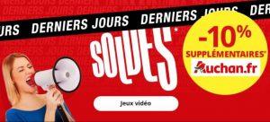 Derniers jours des soldes jeux video Auchan