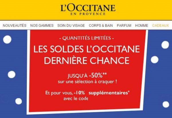 Derniers jours soldes Occitane en Provence