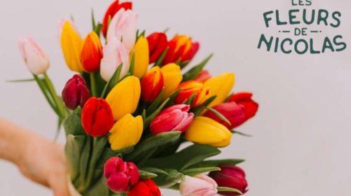 Fête des grands-mères bouquet de tulipes