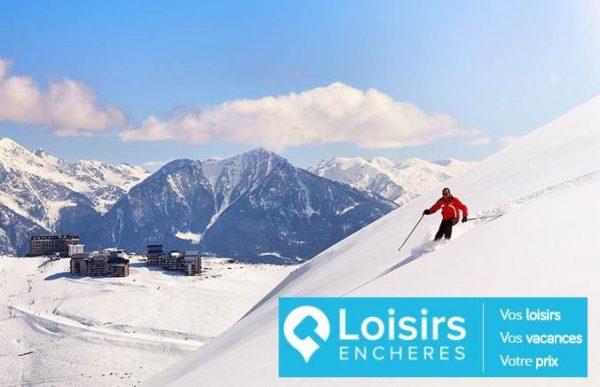 Forfait et vacances au ski à partir de 1€ aux enchères