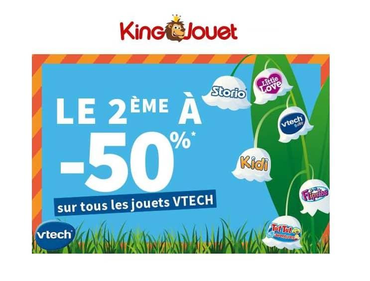 King Jouet Vtech 1 acheté = le second à moitié prix