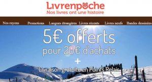 Livrenpoche : 5€ de remise dès 20€ d'achats