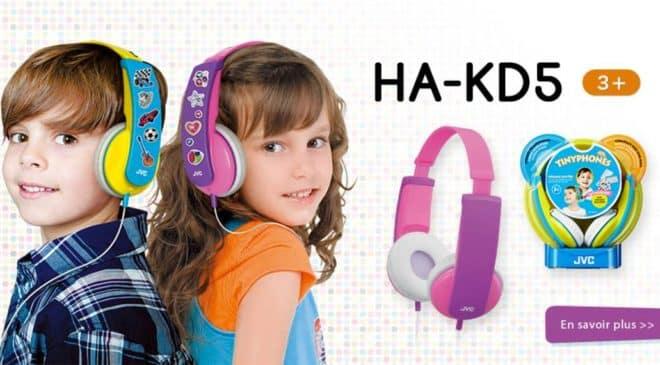 Moins de 10€ le casque audio enfant Tinyphones JVC