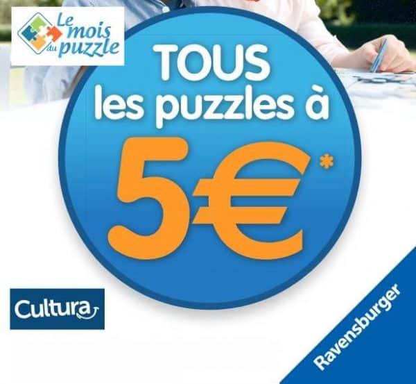 Mois du Puzzle Ravensburger puzzles à 5€
