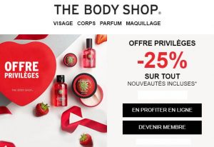Offre Saint Valentin The Body Shop