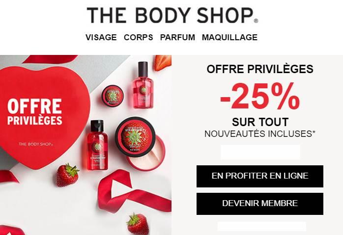 Offre Saint Valentin The Body Shop