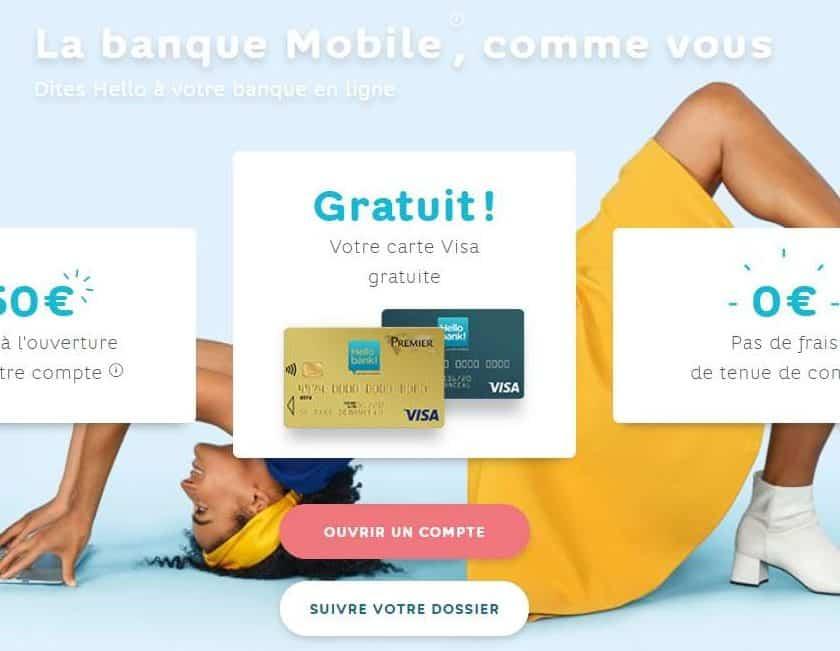 Ouverture Hello bank ! 50€ offerts + CB gratuit + 0€ frais pour l'ouverture d'un compte