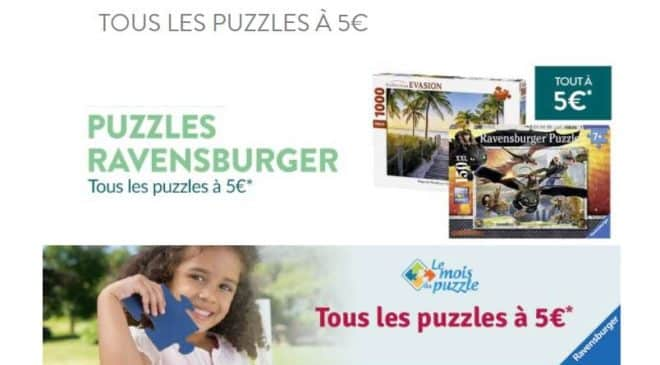 Puzzle Ravensburger tous les puzzles à 5€