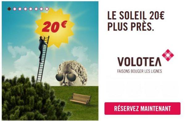 Remise de 20€ sur votre billet d'avion Low-cost Volotea