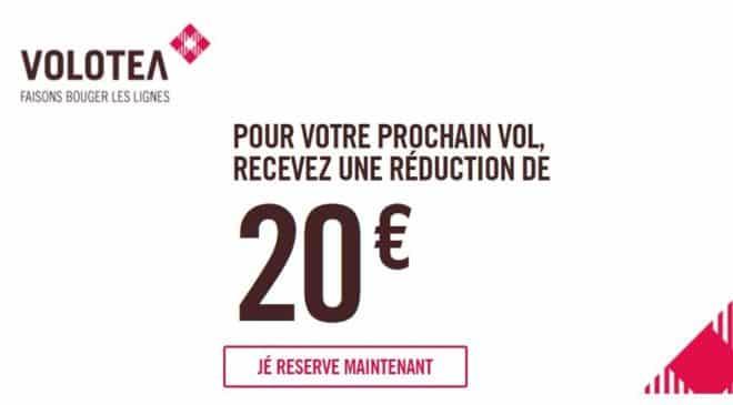 Remise de 20€ sur les vols Volotea