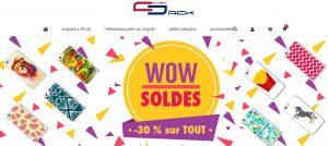Soldes CoverJack : - 30 % sur TOUT (coques originales & coques personnalisables Apple / Samsung