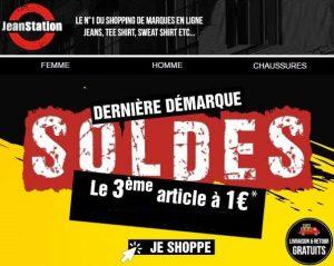 Soldes Jean Station 2 achetes = le 3eme a 1€