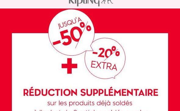 Soldes Kipling remise en plus