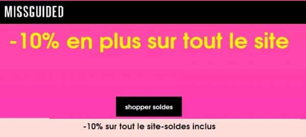 Soldes MissGuided : 10% supplémentaire