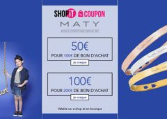 Bijoux Maty : 50€ le bon d'achat de 100€ ou 100€ le bon d'achat de 200€