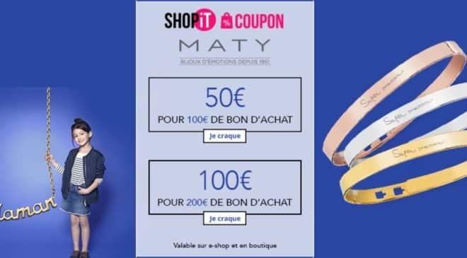 bons d'achats Maty sur Showroomprivé