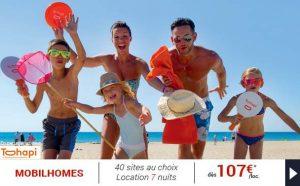 semaine en Mobilhomes dès 107€ en France, Espagne, Italie