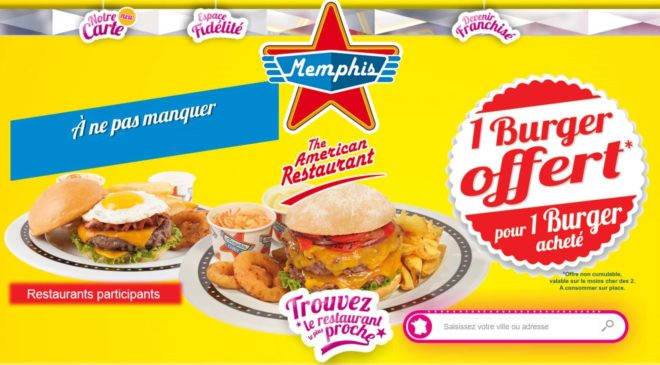1 Burger OFFERT Memphis Coffee