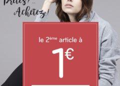 1 article MIM acheté = le second à 1€ (valable sur tout)