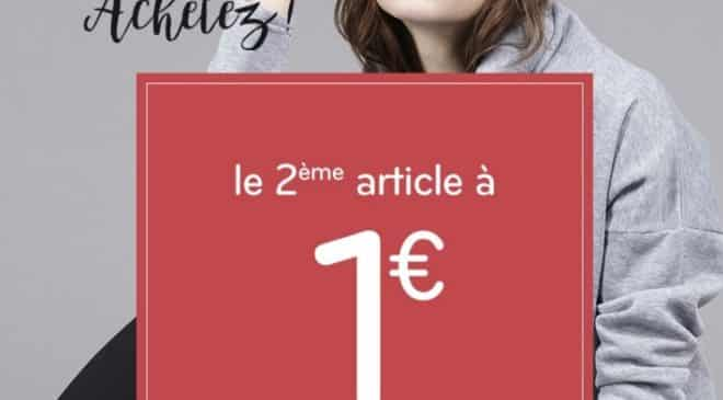 1 article MIM acheté = le second à 1€