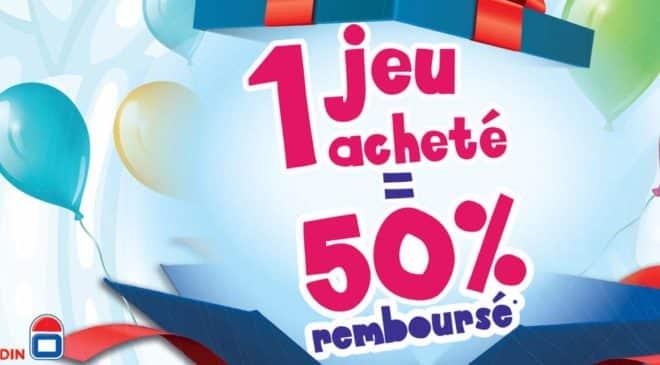 1 jeu Dujardin 50% rembourse