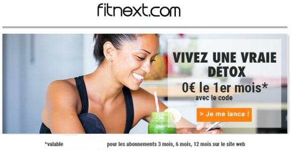 1 mois de programme detox Fitnext offert