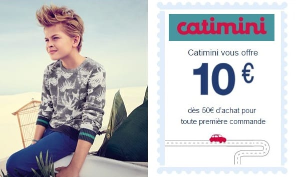 10€ de remise dès 50€ d'achat sur Catimini