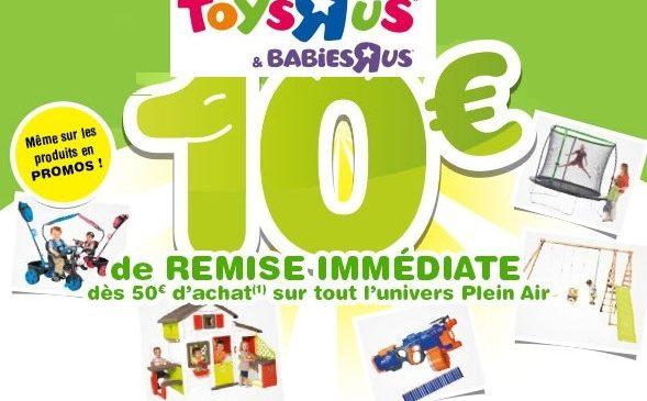 10€ de remise sur les articles Plein Air Toys'R Us