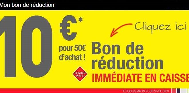 10€ de remise dans un magasin Leader Price