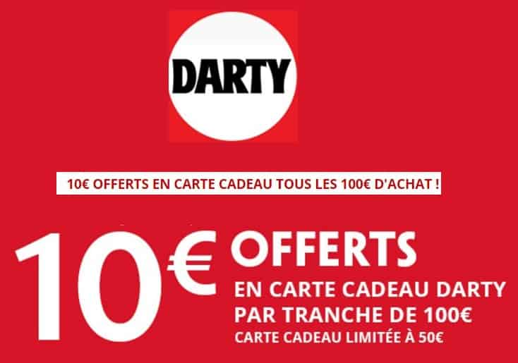 dartydays flash 10 euros offerts d s 100 euros d achat. Black Bedroom Furniture Sets. Home Design Ideas