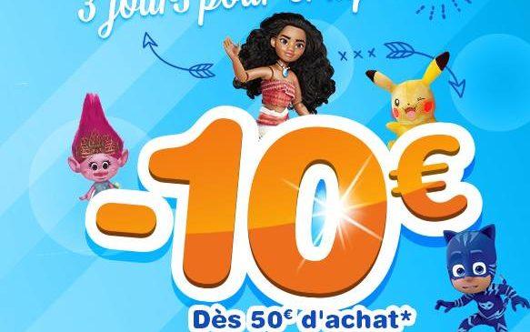 -10€ sur tous vos achats Toys'R Us