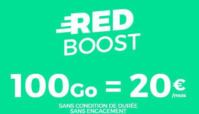 20€ le forfait RED SFR 100Go en illimité à vie (sans engagement)
