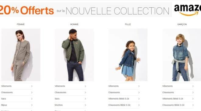 20% sur les nouvelles collections Mode Amazon