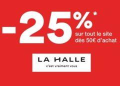 Aujourd'hui seulement : -25% sur La Halle dès 50€ d'achat