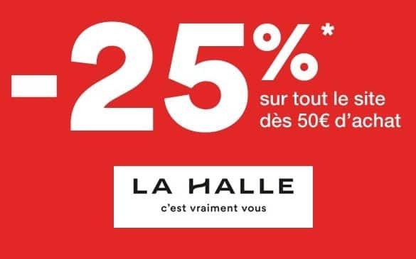 -25% sur La Halle dès 50€ d'achat