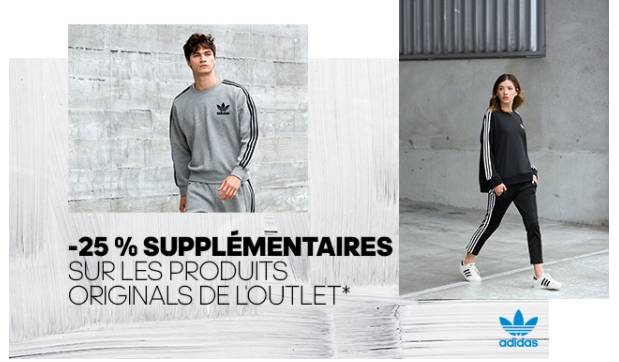 25% en plus sur l' Outlet Adidas Originals