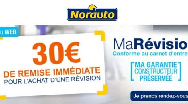 30€ de remise immediate MaRevision Norauto