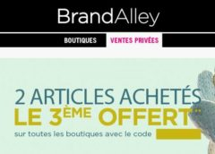 Le 3éme article gratuit sur Brandalley (jusqu'à lundi)