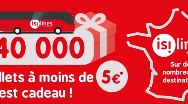 40 000 billets de bus Isilines a moins de 5€