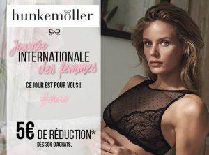 5€ offert sur Hunkemöller pour la Journée de la femme