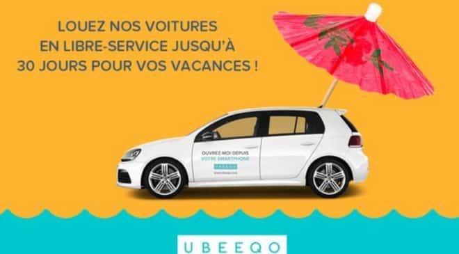 5€ la journée de location de voiture libre-service Ubeeqo