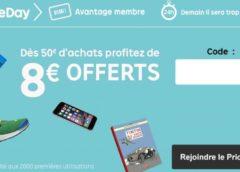 8€ de remise sur Priceminister à partir de 50€ (aujourd'hui seulement)